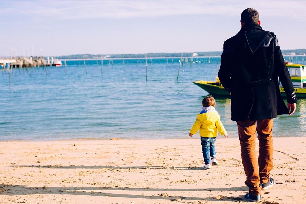 Promenade sur la plage de l'Horizon