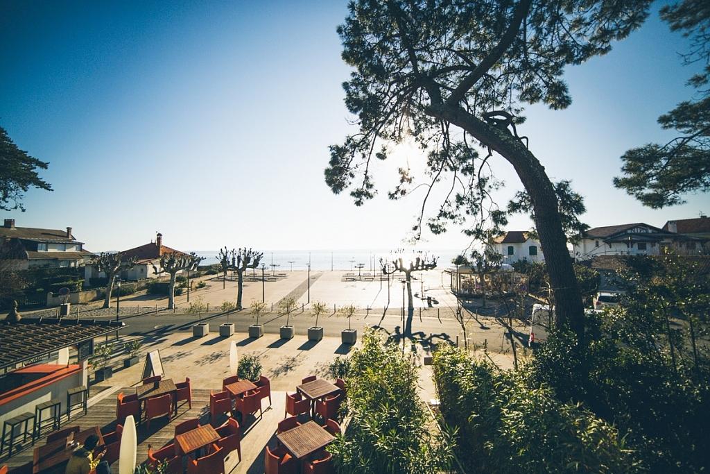 Hotel côté sable vue