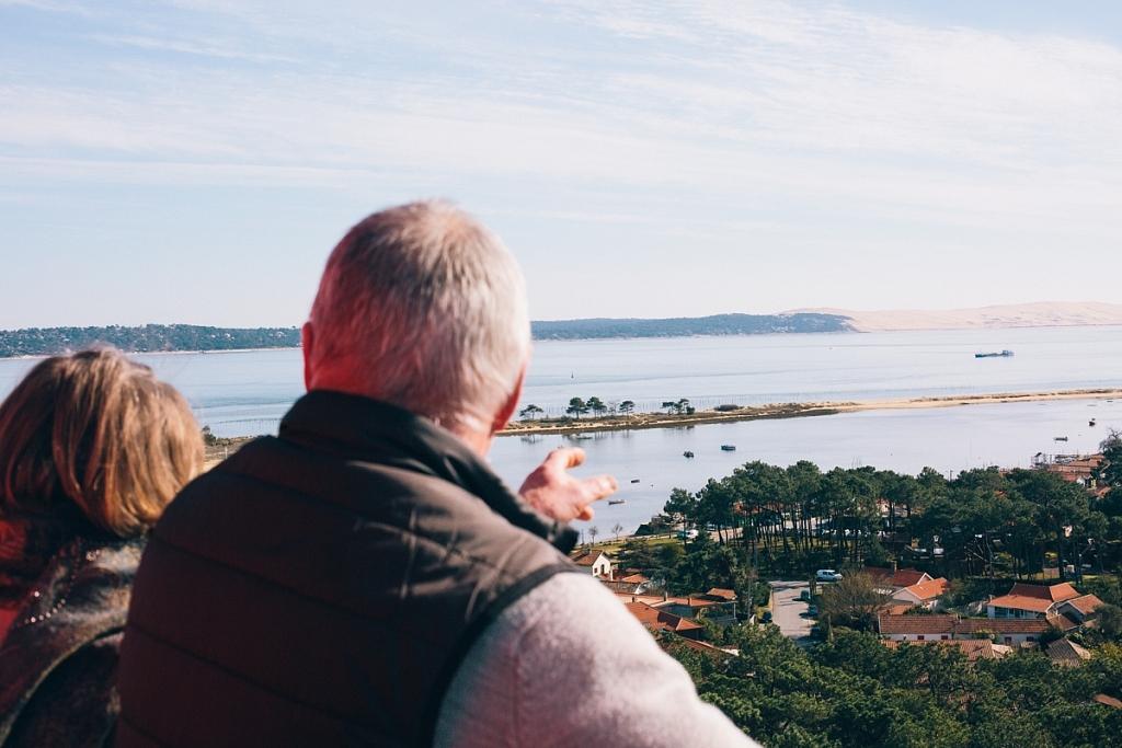 la vue depuis le phare du Cap Ferret