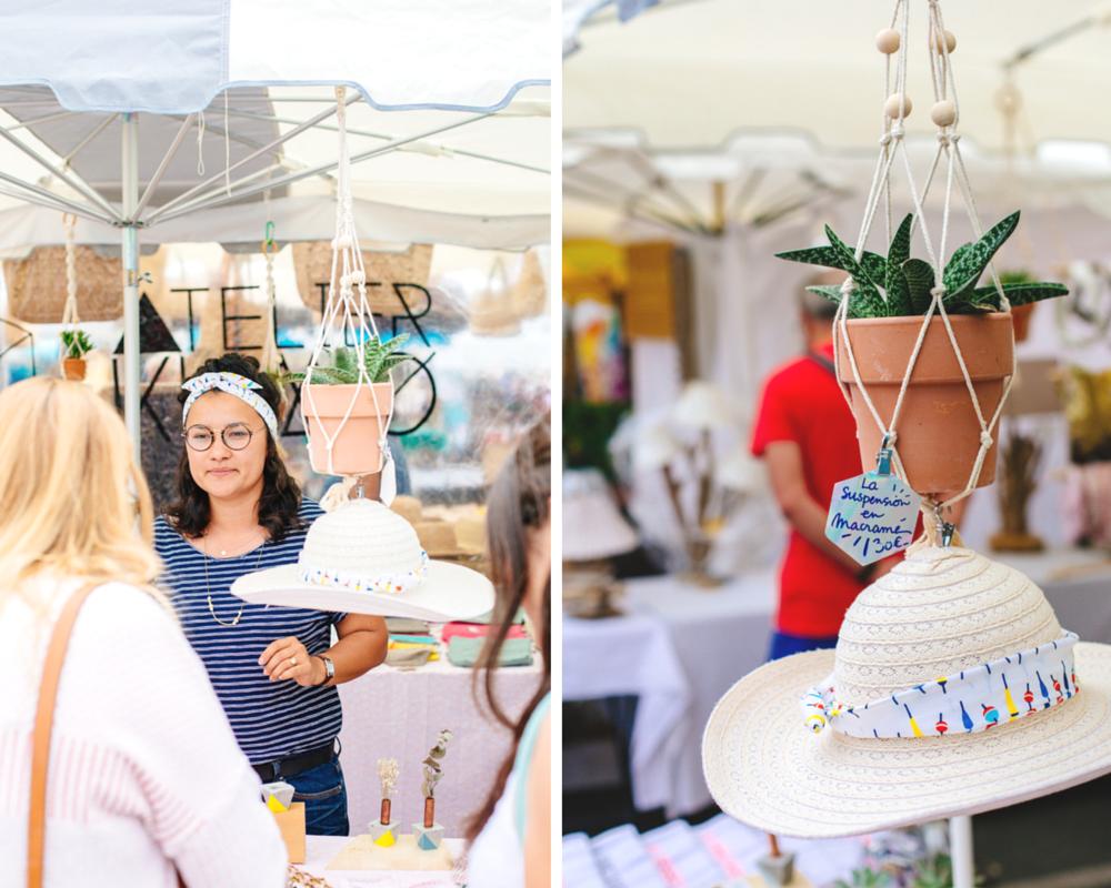 Stand Atelier Kumo sur le marché du Cap Ferret