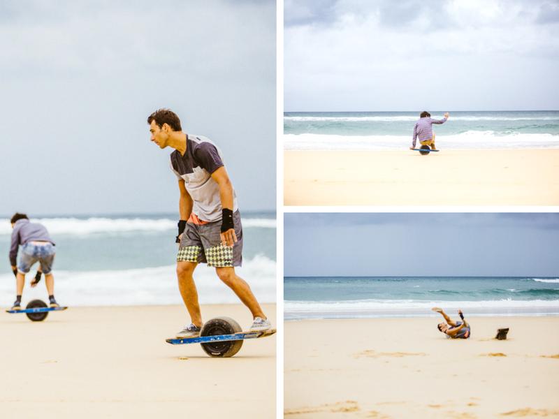Essai du One Wheel sur la plage