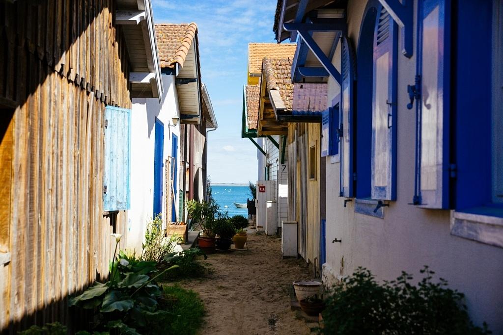 balade dans le village de l'herbe Lège-Cap Ferret